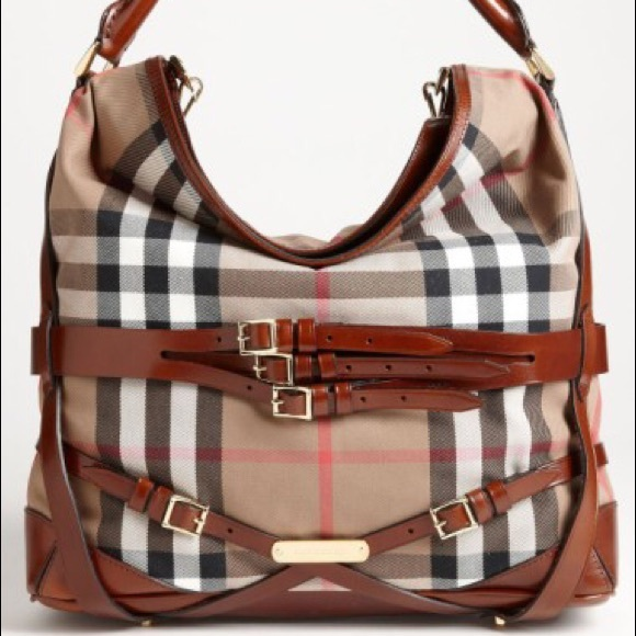 f05f435728a Burberry Bags   House Check Hobo Large   Poshmark